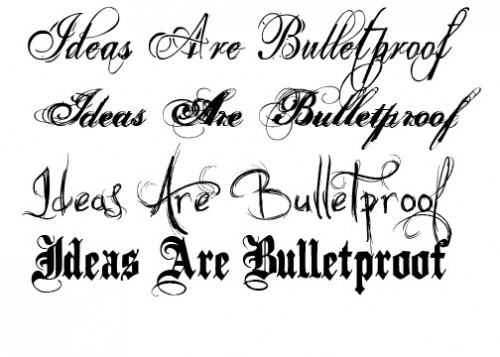 ... Enthusiasts and Tattoo Lovers Find the Right Tattoo Lettering for Them