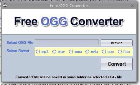 Как сделать формат ogg