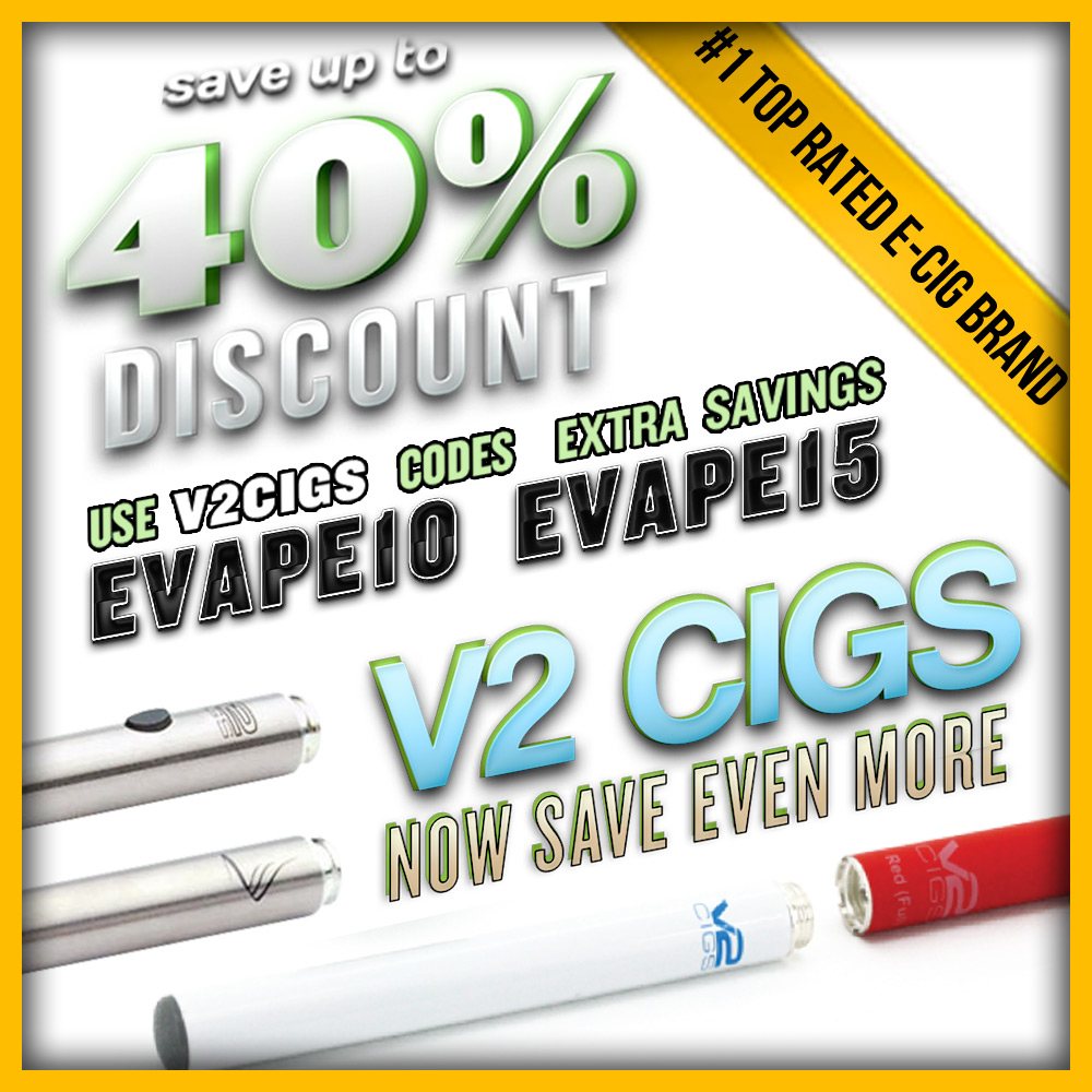 Discount coupon for v2 cigs