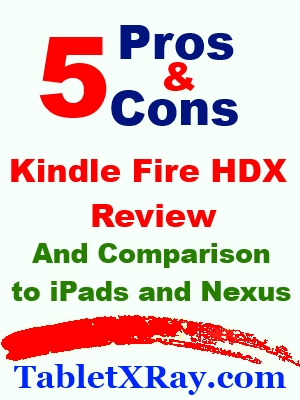 7 and 8.9 inch Kindle Fire HDX Review