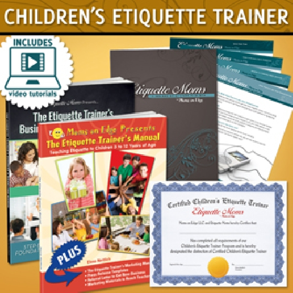 childrens etiquette I recently read a blog about teaching etiquette for children that i would like to share i feel that etiquette, or manners, has dwindled over the last many years by adults and kids, alike however, i think that being polite, greeting people appropriately and making a good first impression are all still very important to not only teach our kids, but continue to model ourselves.