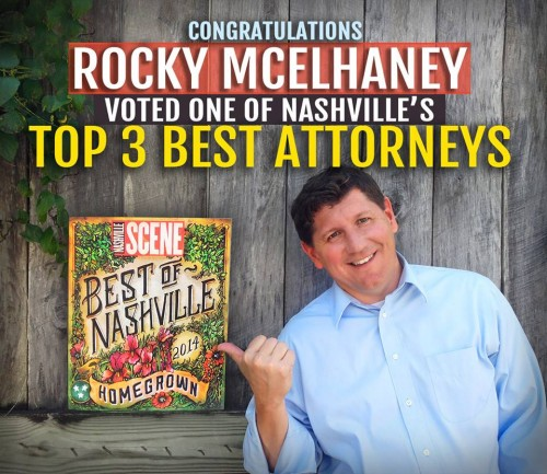 Rocky McElhaney Voted as One of Nashville's Top 3 Attorneys
