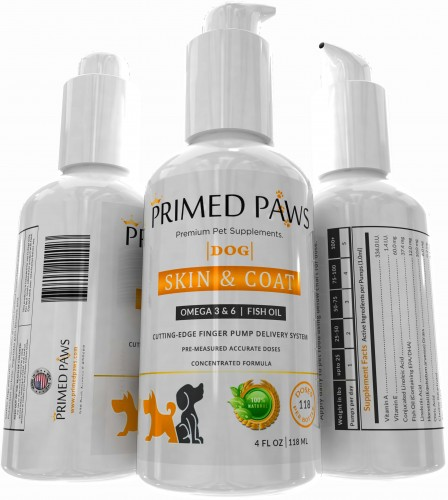 Fish oil dog supplement by primed paws becomes amazon 1 for Fish oil supplements for dogs