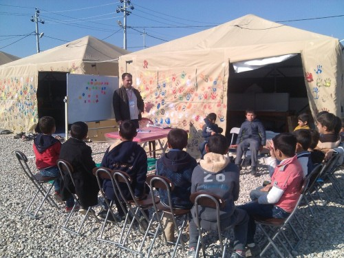 Celina Tent HGPTS Used for Child Friendly Spaces in Iraq by