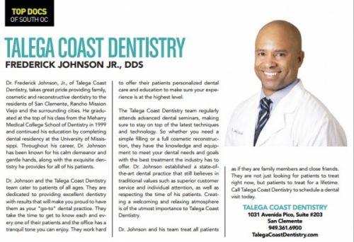 San Clemente Dental – Dr  Frederick Johnson Wins America's Best