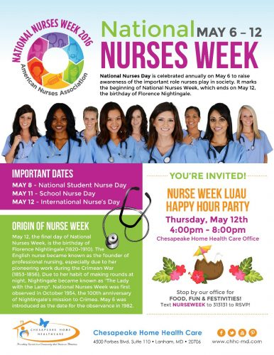 Chesapeake home health care to celebrate national nurses for Nurses week flyer templates