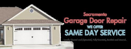 D l garage door service offers same day sacramento garage for Garage door repair sacramento