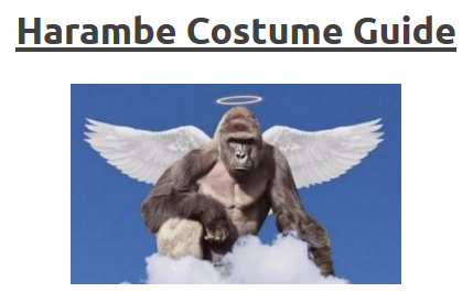 Harambe Outfitters Launches Just In Time For The Halloween Costume ...
