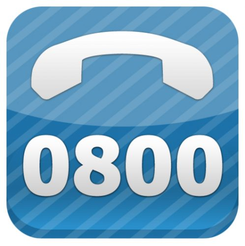 how to call 0800 numbers from usa