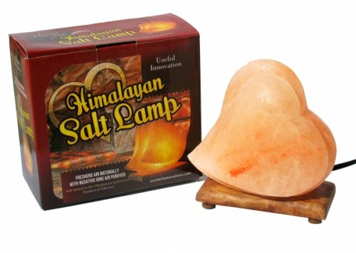 Salt Lamps In Usa : Himalayan Salt Lamp Christmas Gift Heart Shaped Air Purifier Announced