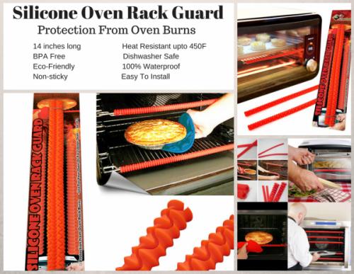 Silicone Oven Rack Guard Cover Free Recipe Books FDA