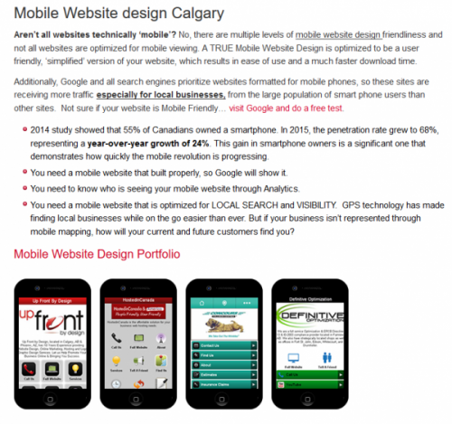 Calgary Mobile Website Design Expert Web Specialists Agency Services Announced