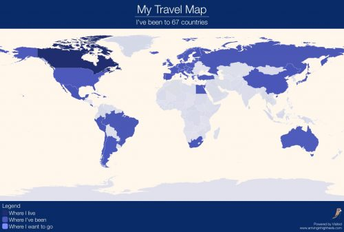 Visited Personalized World Map Travel App Now Available In - Travel mapping software