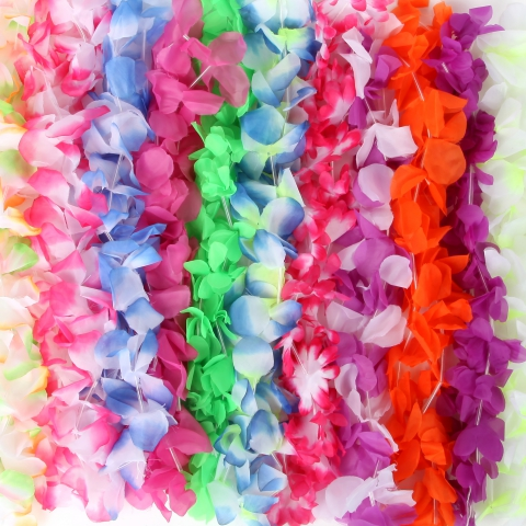 Teddy Shake Announces That New Images Of Silk Hawaiian Leis Are In Production