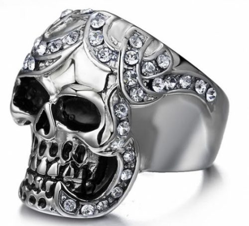 Skull Themed Ring King Kong Goth Silver Plated Crystal Jewelry Launched