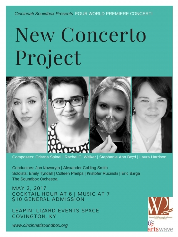 Cincinnati Soundbox Announces New Concerto Project