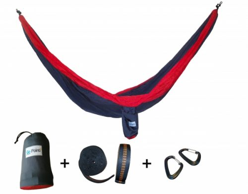 Portable Hammock Double Parachute Nylon Camping Hanging Bed Launched