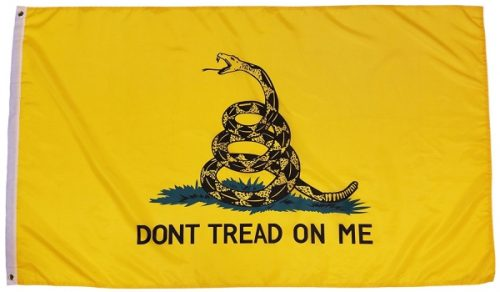 Tea Party Gadsden Don't Tread On Yellow Rattle Snake Banner-Style Flag Released