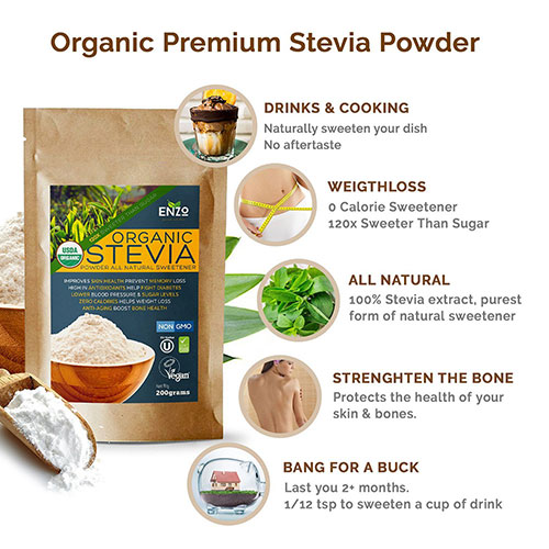 enzo stevia powder launches new sweetener product marketersmedia press release distribution. Black Bedroom Furniture Sets. Home Design Ideas