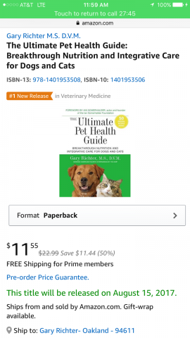 Dr Gary Richter Americas Favorite Vet Ultimate Pet Health Guide No. 1 On Amazon