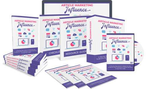 Article Marketing Influence – The Brilliant Unique Brand New PLR Business That Built Around A Hot Topic In-Demand Niche