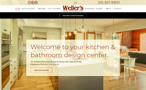Weiler s kitchen bath design center unveils newly updated website marketersmedia press Bathroom design centers philadelphia