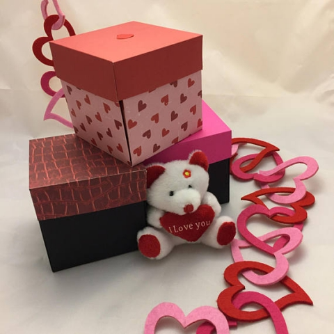 Valentines Day Gift Pop Up Memory Keepsake Card Box Etsy Store