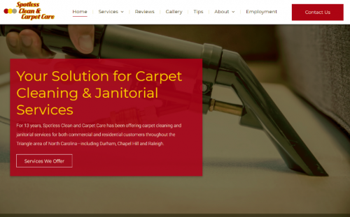 Spotless Clean Carpet Care In Durham Nc Launches New Website Marketersmedia Press Release Distribution Services News Release Distribution Services