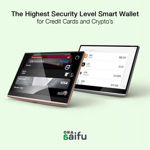 Smart Tech Company OraSaifu Announces A Revolutionary Payment Product Hardware Cryptocurrency Wallet With Digital Card Screen Display