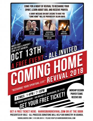 Free Revival Event Will Feature Music From Well Known Christian Artists:  Love U0026 The Outcome, Curvine Ministries, And The Harrisburg Revival Choir  Led By ...