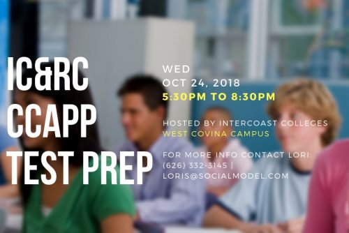 InterCoast Colleges West Covina to Host Public IC&RC/CCAPP