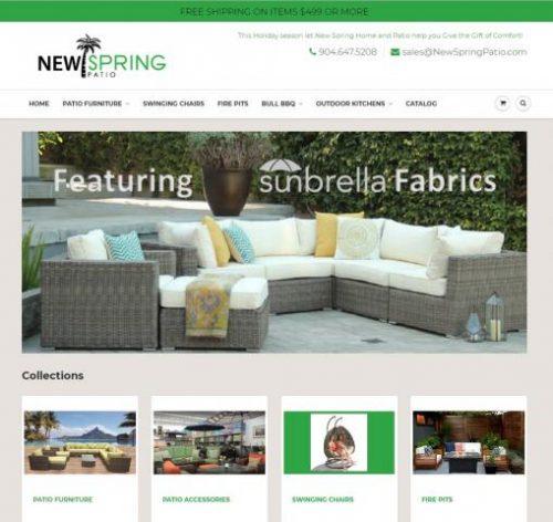 Jacksonville Fl Based Outdoor Patio Furniture Store New Website