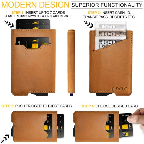 """41ab9f08cd8e FIDELO Launches New """"Hybrid"""" 3-in-1 Mechanical Minimalist Wallet for ..."""