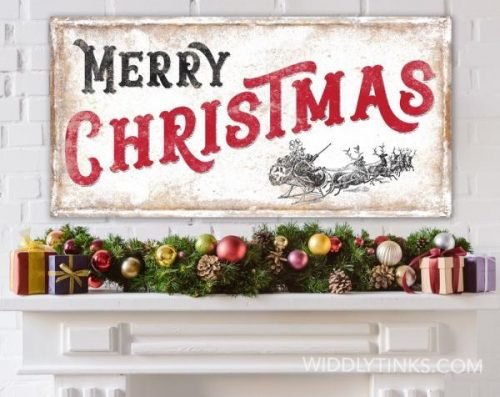 Large Christmas Canvas Wall Art Hanging Decorations Festive Signs Launched